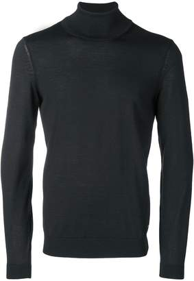 HUGO BOSS turtle-neck fitted sweater