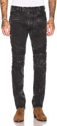 Balmain Skinny Biker Jeans in Black | FWRD