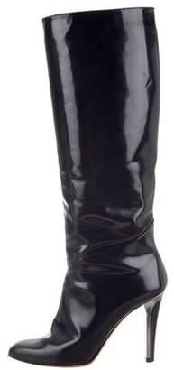 Jimmy Choo Round-Toe High-Heel Boots