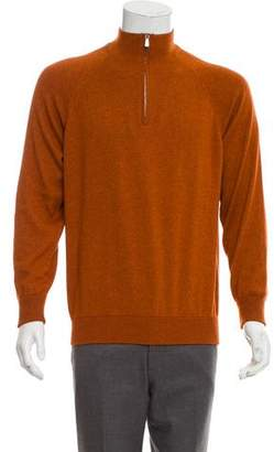 Loro Piana Cashmere and Silk Half-Zip Sweater