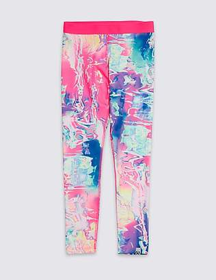 Marks and Spencer Digital Print Leggings With Cool ComfortTM (3-16 Years)