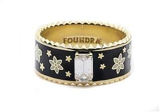 Foundrae Diamond Dark Blossoms Ring