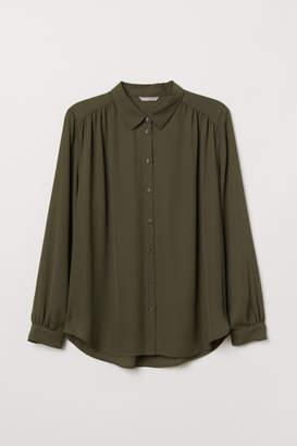 H&M H&M+ Long-sleeved Blouse - Green