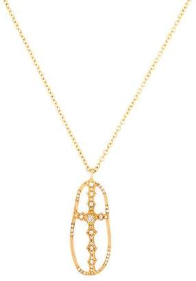 Sara Weinstock Diamond Cross Pendant Necklace