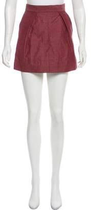 Balenciaga Linen-Blend Mini Skirt
