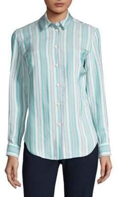 Piazza Sempione Stripe Button-Front Shirt
