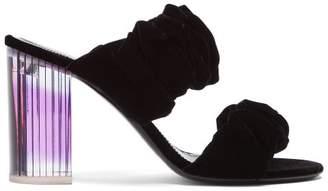 Nicholas Kirkwood Courtney Velvet Mules - Womens - Black Purple