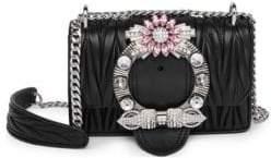 Miu Miu Embellished Leather Crossbody Bag