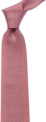 Salvatore Ferragamo Pink Elephant Silk Tie