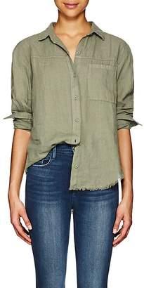 Frame Women's Slub-Weave Linen Blouse
