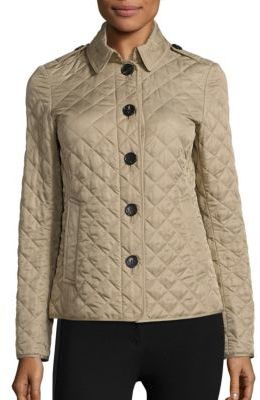 Burberry Ashurst Quilted Canvas Coat $595 thestylecure.com