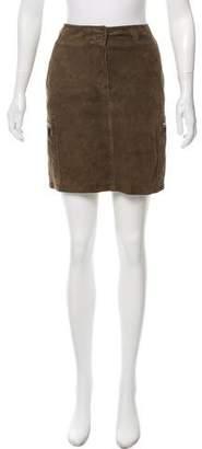Max Mara Suede Mini Skirt