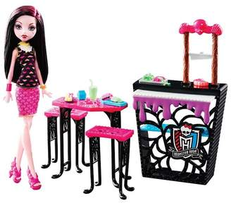 Mattel Monster High - Beast Bites Cafe Draculaura Doll And Playset