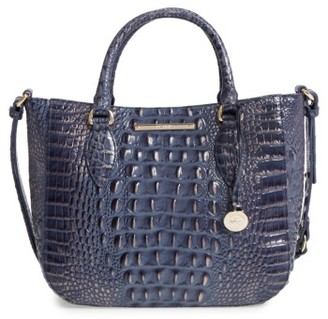 Brahmin Melbourne - Small Lena Leather Satchel - Blue $275 thestylecure.com