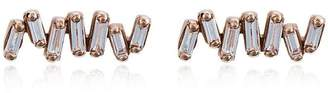 Suzanne Kalan Rose gold and diamond Fireworks post earrings