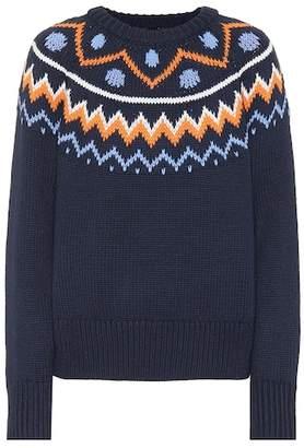 Tory Sport Fair Isle wool-blend sweater 878f48eea