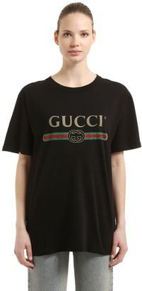 Gucci Vintage Logo Cotton Jersey T-Shirt