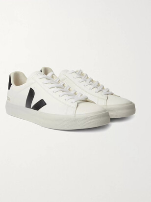 Veja Campo Rubber-Trimmed Leather Sneakers - Men - White