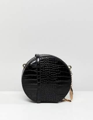 Faith Round Croc Effect X Body Bag