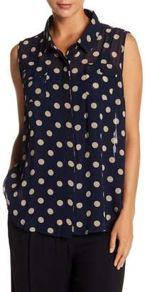 Papillon Polka Dot Sleeveless Top