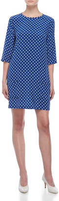 Equipment Aubrey Silk Polka Dot Shift Dress
