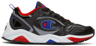 Champion Reverse Weave Black Leather Nxt Sneakers