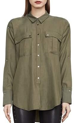BCBGMAXAZRIA Jaison Snap-Sleeve Shirt