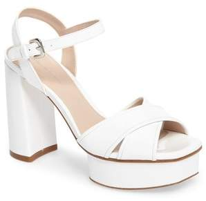 Stuart Weitzman Exposed Platform Sandal