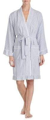 Eileen West Stripe Short Wrap Robe