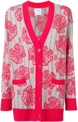 Barrie floral knitted cardigan