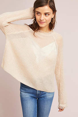 Moon River Sheer Raglan Sweater