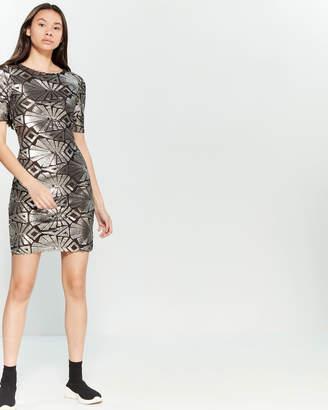 97158df2 Silver Sequin Mini Dress - ShopStyle