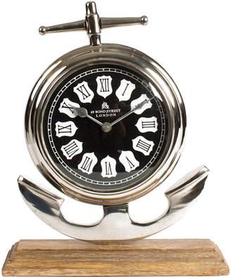 Privilege Aluminum And Wood Clock