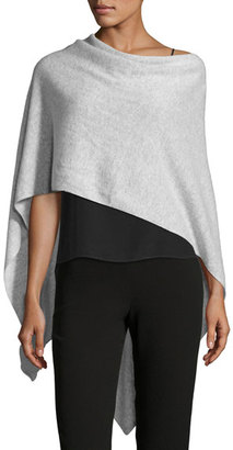 Letarte Solid Cashmere Wrap Topper, gray $178 thestylecure.com