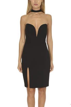 Warehouse Michelle Mason Strapless Choker Dress