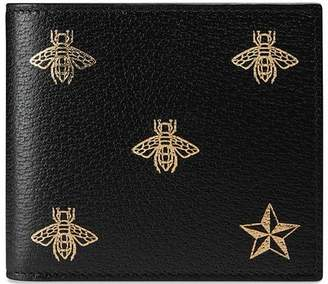 Gucci Bee Star leather coin wallet