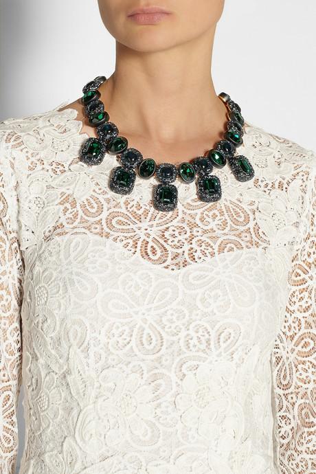 Oscar de la Renta Gold-plated resin necklace