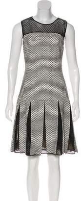 Oscar de la Renta Sleeveless Knit Knee-Length Dress