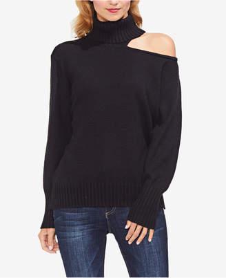 Vince Camuto One-Shoulder Turtleneck Sweater