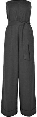 J.Crew Draft Strapless Belted Wool Jumpsuit - Gray