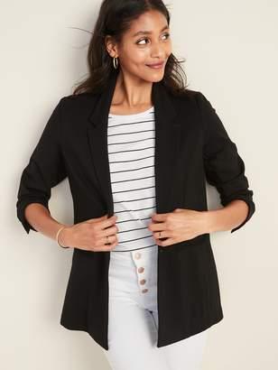 Old Navy Ponte-Knit One-Button Boyfriend Blazer for Women