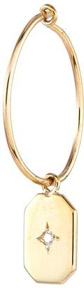 Sebastian Sarah & 'Insignia' diamond plate single hoop earring