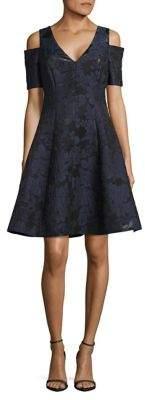 NUE by Shani Cold-Shoulder Fit-&-Flare Dress