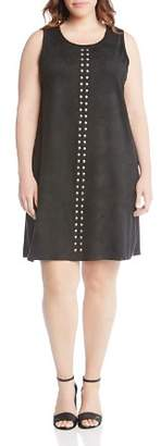 Karen Kane Plus Studded Faux-Suede Tank Dress