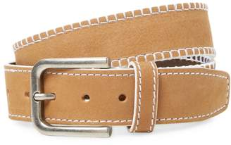 Berge Men's Suede Belt with Stitch