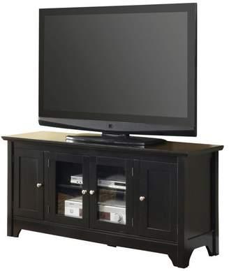 Walker Edison 52 Black Wood TV Stand Console