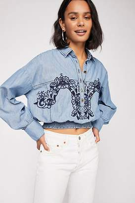 Way With Words Chambray Top