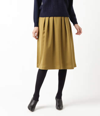 NEWYORKER women's 【オフシーズンセール】ドレーピータスラン タックフレアスカート