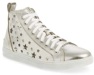 Jimmy Choo Colta Star Embossed High Top Sneaker