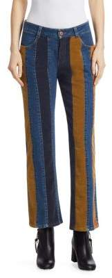 See by Chloe Cord Striped Denim Jeans